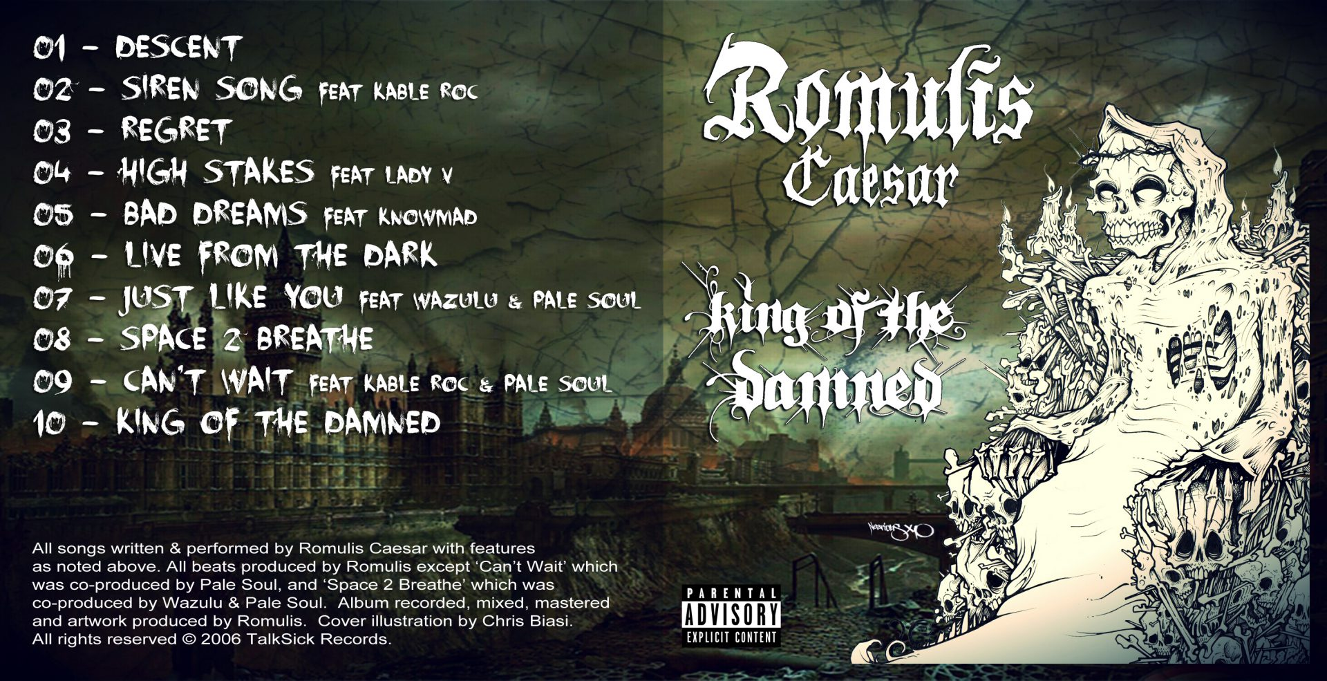 Romulis Caesar - King of the Damned Outside Cover Art