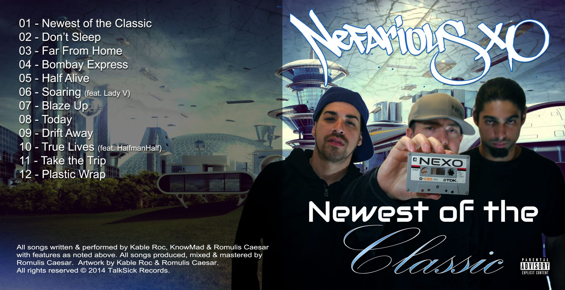 Nefarious XO - Newest of the Classic Outside Cover Art