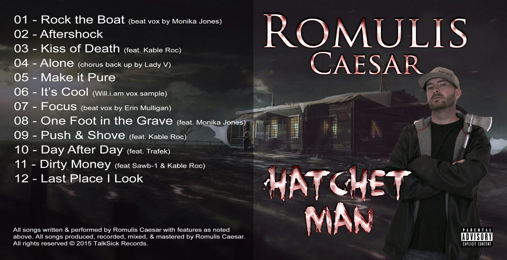 Romulis Caesar - Hatchet Man Outside Cover Art