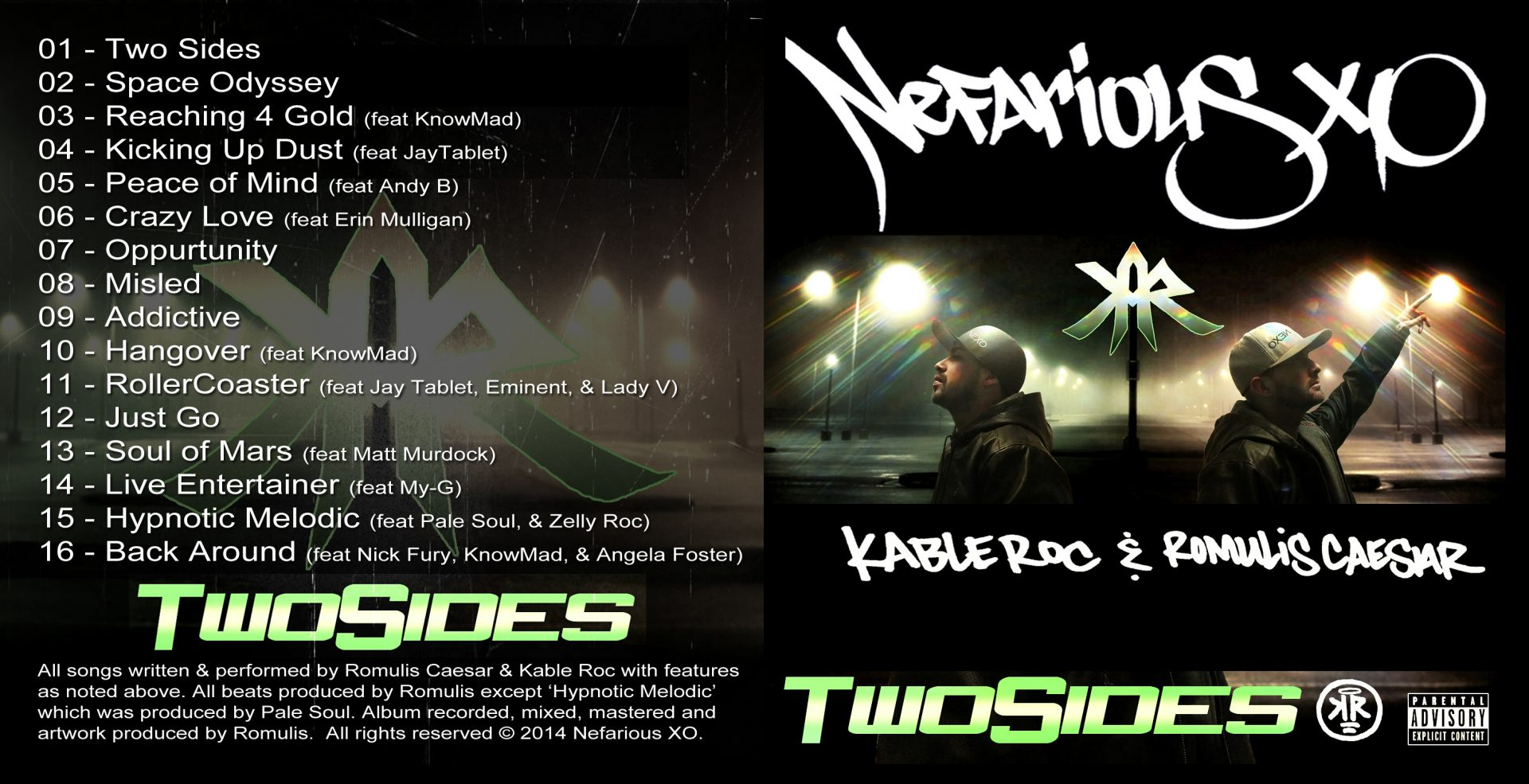Nefarious XO - Two Sides Outside Cover Art